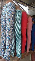 Модные штанишки цветы штапель (42-48) , доставка по Украине