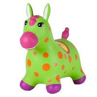 """Детский прыгун """"Цветочный пони"""" розовый"""
