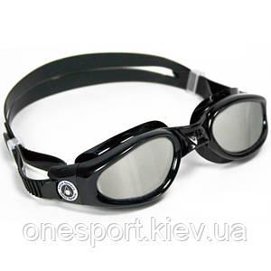Очки для плавания Aqua Sphere Kaiman BLK L/MIROR черные (код 156-247906)