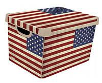 Ящик для хранения 23 л Deco`s USA flag