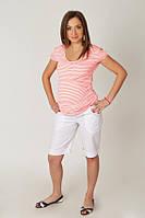 Льняные шорты для беременных Белые