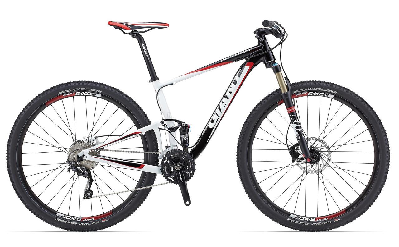 """Горный велосипед двухподвес Giant Anthem 3, колеса 27.5"""" чёрный/белый/красный L/20 (GT)"""