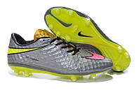Футбольные бутсы Nike HyperVenom Phantom FG Chrome/Hyper Pink/Metallic Gold Cn