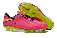 Футбольные бутсы Nike HyperVenom Phantom FG Hyper Pink/Volt/Black, фото 1
