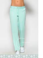 Женские брюки летние мятные