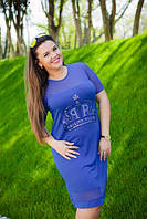 Летнее платье для пышных форм.Два цвета