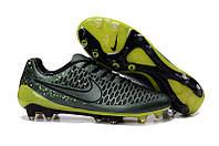 Футбольные бутсы Nike Magista Opus FG Dark Citron/Volt/Black 40, фото 1