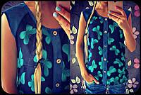 """Красивая блузка """"Бабочки"""", Расцветки"""