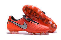 Футбольные бутсы Nike Tiempo Legend VI FG 2016 Light Crimson/Metallic Silver/Total Crimson, фото 1