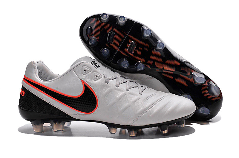 Футбольные бутсы Nike Tiempo Legend VI FG 2016 Pure Platinum/Black/Metallic Silver/Hyper Orange