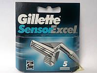 Лезвии для бритья Gillette Sensor excel 5 шт, фото 1
