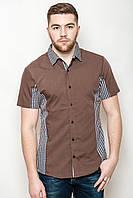 Рубашка с контрастами из ткани в клетку, фото 1