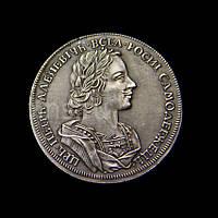 Монета цена рубль 1723 год буквами №434 копия