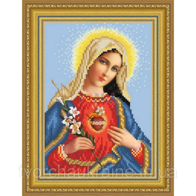 """Бисерная заготовка """"Непорочное сердце Марии""""  ТО-089"""