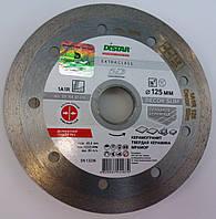 Алмазный Тонкий диск, для резки керамической, плитки  Distar Decor Slim 125x1,2x8x22,23  чистый рез без сколов