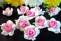 Головы розочки в форме звёздочки с розовой серединкой