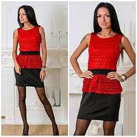 Женское платье с кружевом м-40196