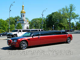 Аренда бордового лимузина Крайслер 300С