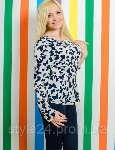 Жіноча блуза за метеликами.Розміри 42-50  продажа f8b24c3262a4e