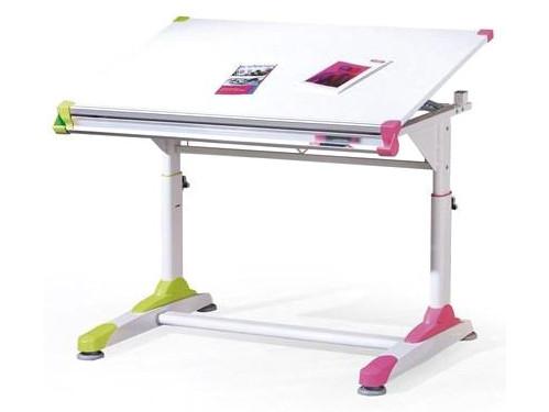 Письменный стол COLLORIDO белый/розовый-зеленый Halmar