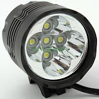 Велофара UltraFire «Fight» (5 x XM-L T6) 4000LM + СЗУ + АКБ 4х18650 6400mAh