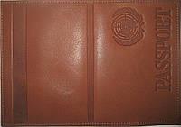 Обложка на паспорт цвет тёмно-коричневый