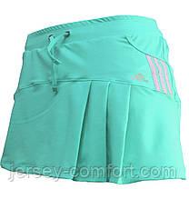 Спідниця -шорти жіночі еластан. Спідниця з шортами для тенісу. Спідниця спортивна м'ята, м'ятний колір.Мод. 4032