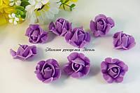 Головы розочки в форме звёздочки фиолетовые