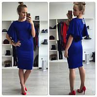 Платье женское.Ткань дайвинг.Цвета красный, чёрный, синий, сирень.Размеры XS, S, M, L.ST 110