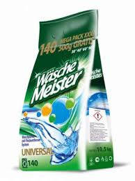 Стиральный порошок Wasche Meister универсал 10,5кг, 140 стирок Германия , фото 2