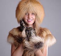 Кубанка из лисы, верх кожаный, фото 1