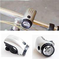 Фонарик 5 из светодиодов,велосипедная передняя фара, головной свет с кранштейном