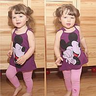 Детская футболка для девочки с микки фиолетовая ТМ Овен