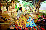 Схема для вышивания бисером Беседа Иисуса с Марией КМР 3019