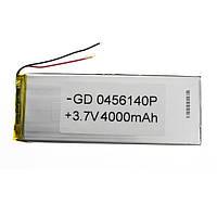 Аккумулятор литий-полимерный 0456140P 3.7V 4000mAh
