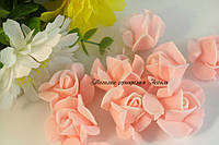 Головы розочки в форме звёздочки розовые