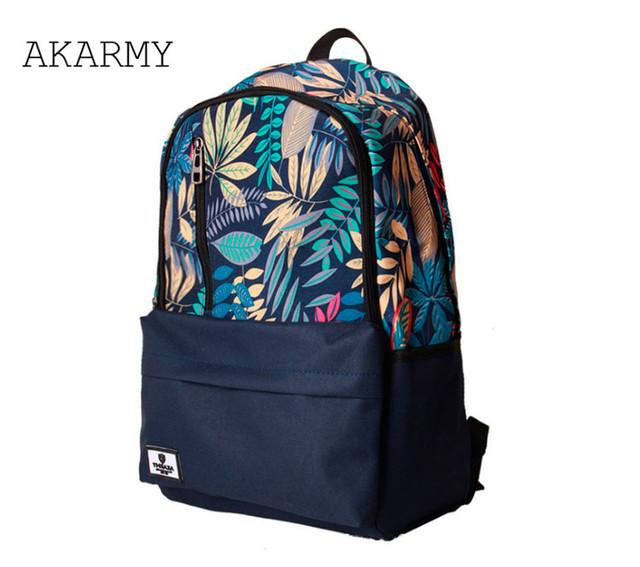 Рюкзак Akarmy | синий вид сбоку