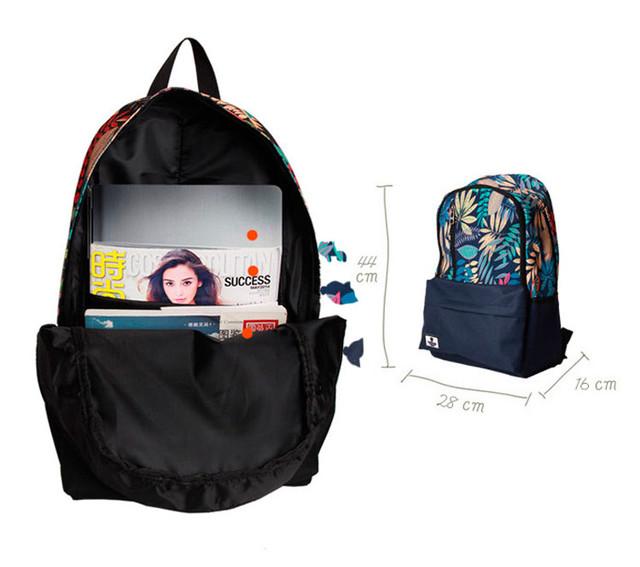 Рюкзак Akarmy | синий внутреннее устройство и размер
