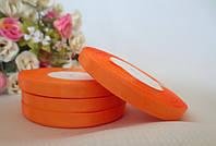 Атласная лента 0.6 см, 23 м, цвет оранжевый