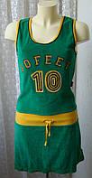Платье зеленое махровое мини 10 Feet р.42-44 6730