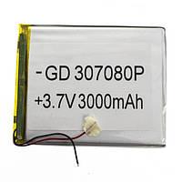 Аккумулятор литий-полимерный 037080P 3.7V 3000mAh