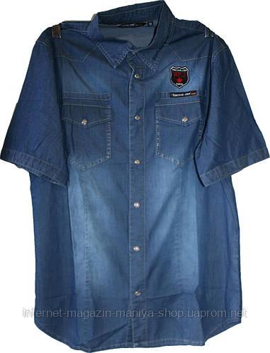 Мужские  рубашка джинсовая