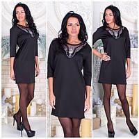 Нарядное черное платье с-40210