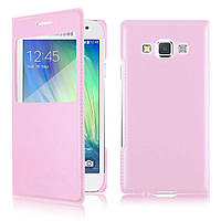 S View Cover Case for Samsung Galaxy A5 A500H Soft Pink