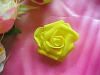 Головы розочки желтого цвета 6см