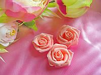 Головы розочки нежно-розовые 3.5см
