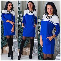 Женское трикотажное платье с-40213