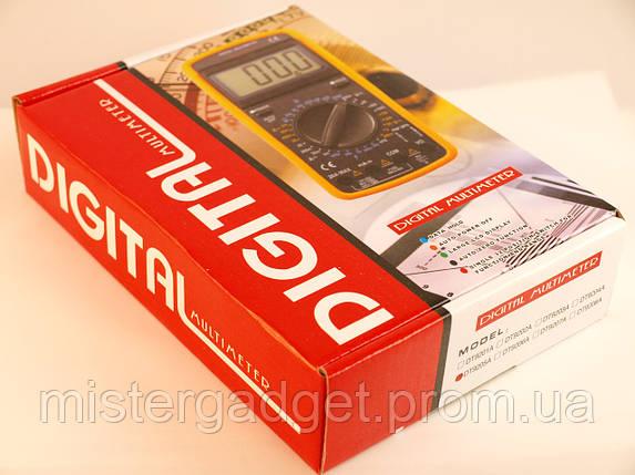 Мультиметр цифровий DT 9206 20А, Тестер DT-9206A, фото 2