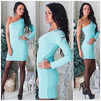 Женское платье с открытым плечом и-40218