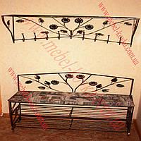 Мебель в прихожую (кованая банкетка и вешалка ) 44